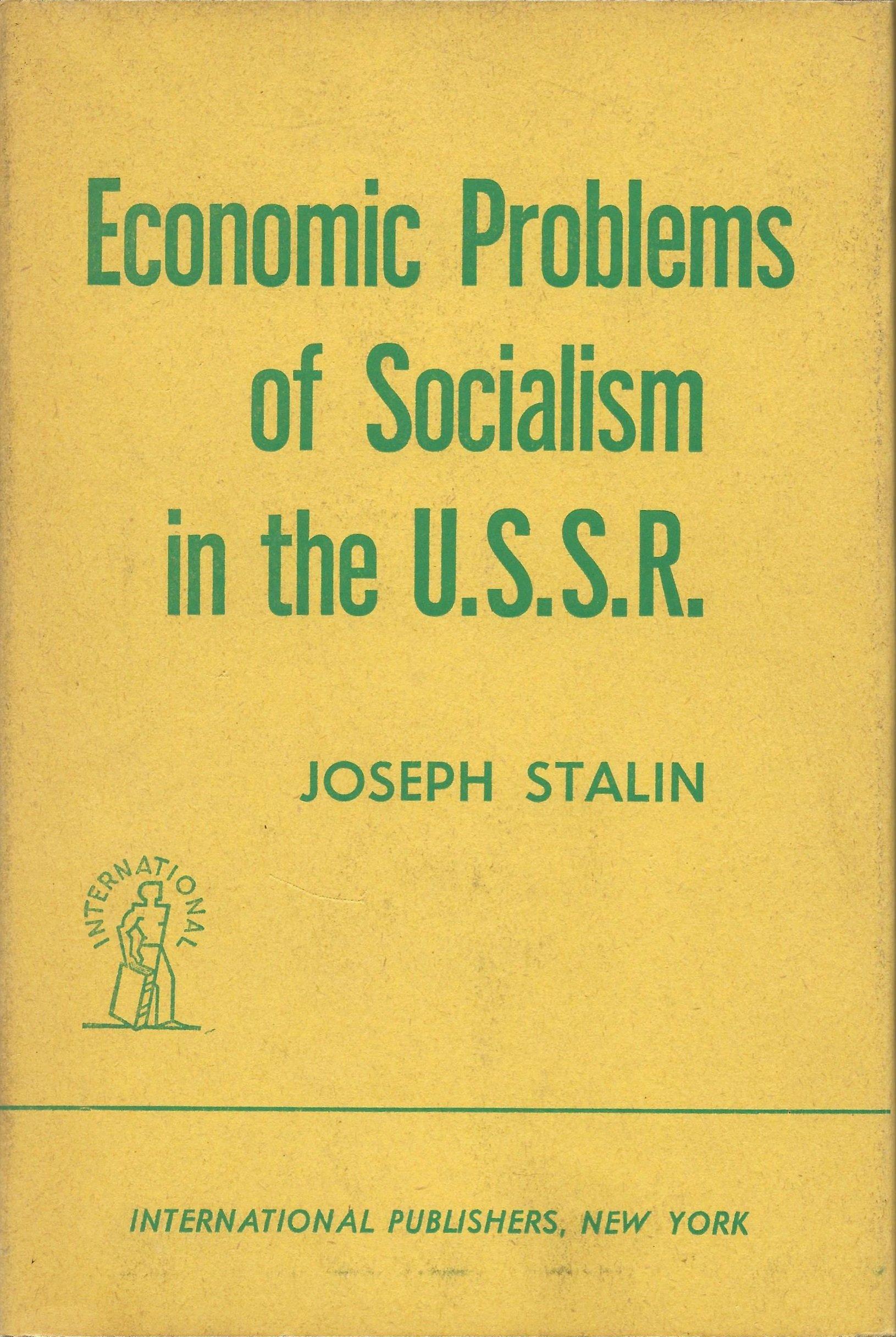 Economic Problems Of Socialism In The U S S R Stalin Joseph Amazon Com Books