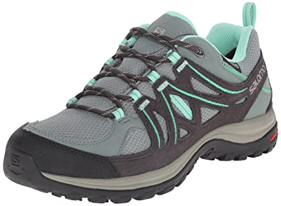 Salomon Womens Ellipse 2 CS Waterproof W Hiking Shoe       Light TT Asphalt Jade