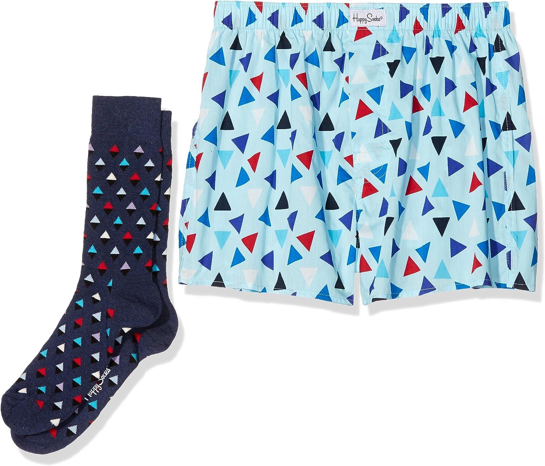 Happy Socks Triangle Mens Boxer & Sock Combo Box Bañador de ...