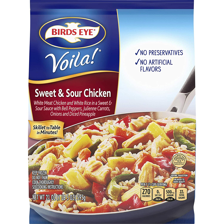 Birds Eye Voila! Sweet & Sour Chicken, Frozen Meal, 21 OZ