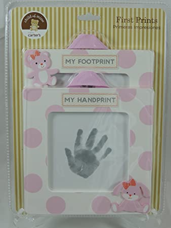 Amazon.com : Carter\'s Child of Mine Baby Girl First Handprint and ...