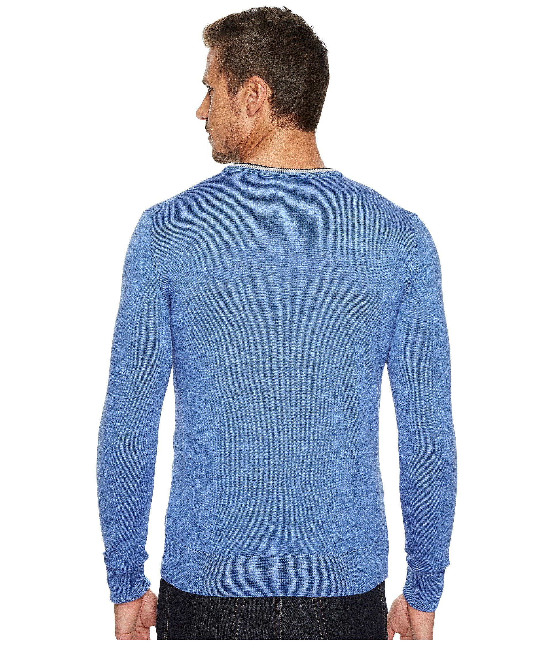 Dale of Norway Kristian masculine sweater, Medium Blue/Off-white/Navy, XX Large by Dale of Norway (Image #4)