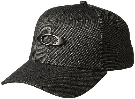 reputable site 2dce5 b66ee Oakley Men s Novelty Tin Can Flexfit Hats,Small Medium,Blackout