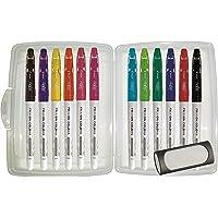 Pilot 4144S12 FriXion Colors Feutres de coloriage, effaçable, lot de 12 12 Stifte + Box + Radierer coleurs assorties