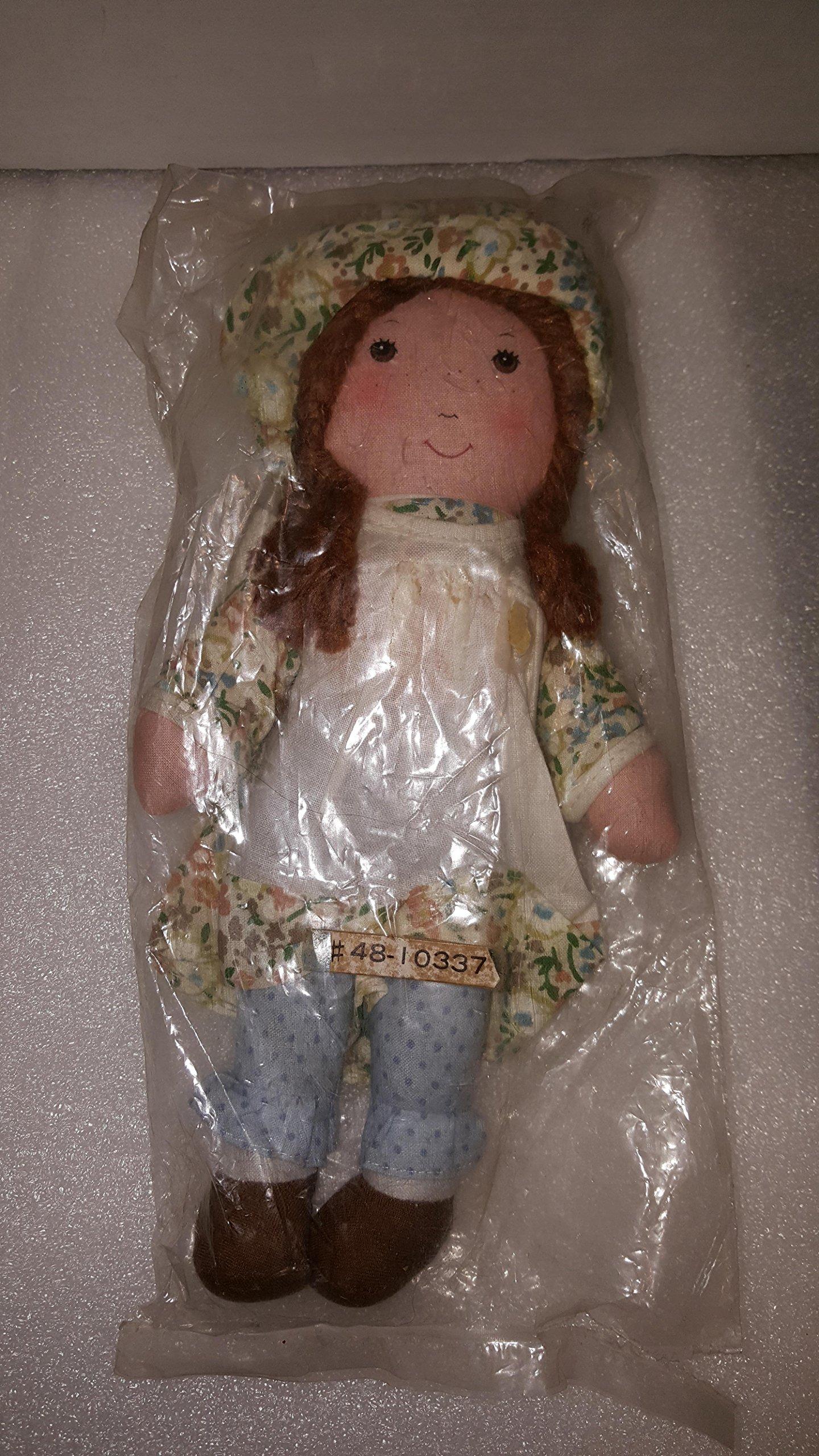 "Holly Hobbie Vintage 1970's Heather 9"" Plush rag Doll by Knickerbocker"