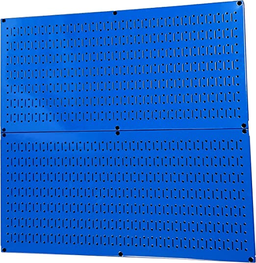 Two 32-Inch x Pegboard Rack Wall Control Galvanized Steel Pegboard Pack