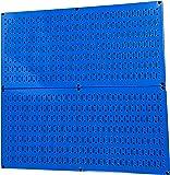 ペグボードラック壁コントロールスチールペグボードパックブルーペグ・ボード–2つ81cm x 16インチブルーメタルペグボードパネル