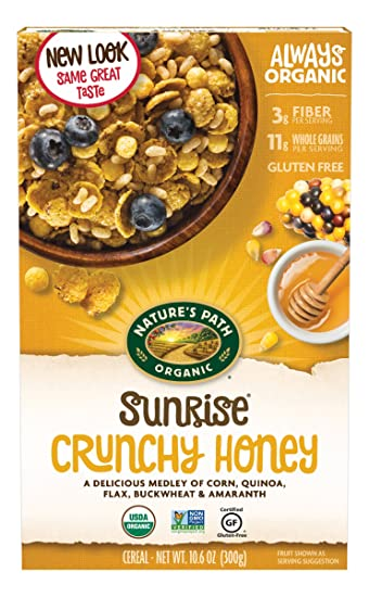 Gluten Free Cereal >> Amazon Com Nature S Path Organic Gluten Free Cereal Crunchy Honey