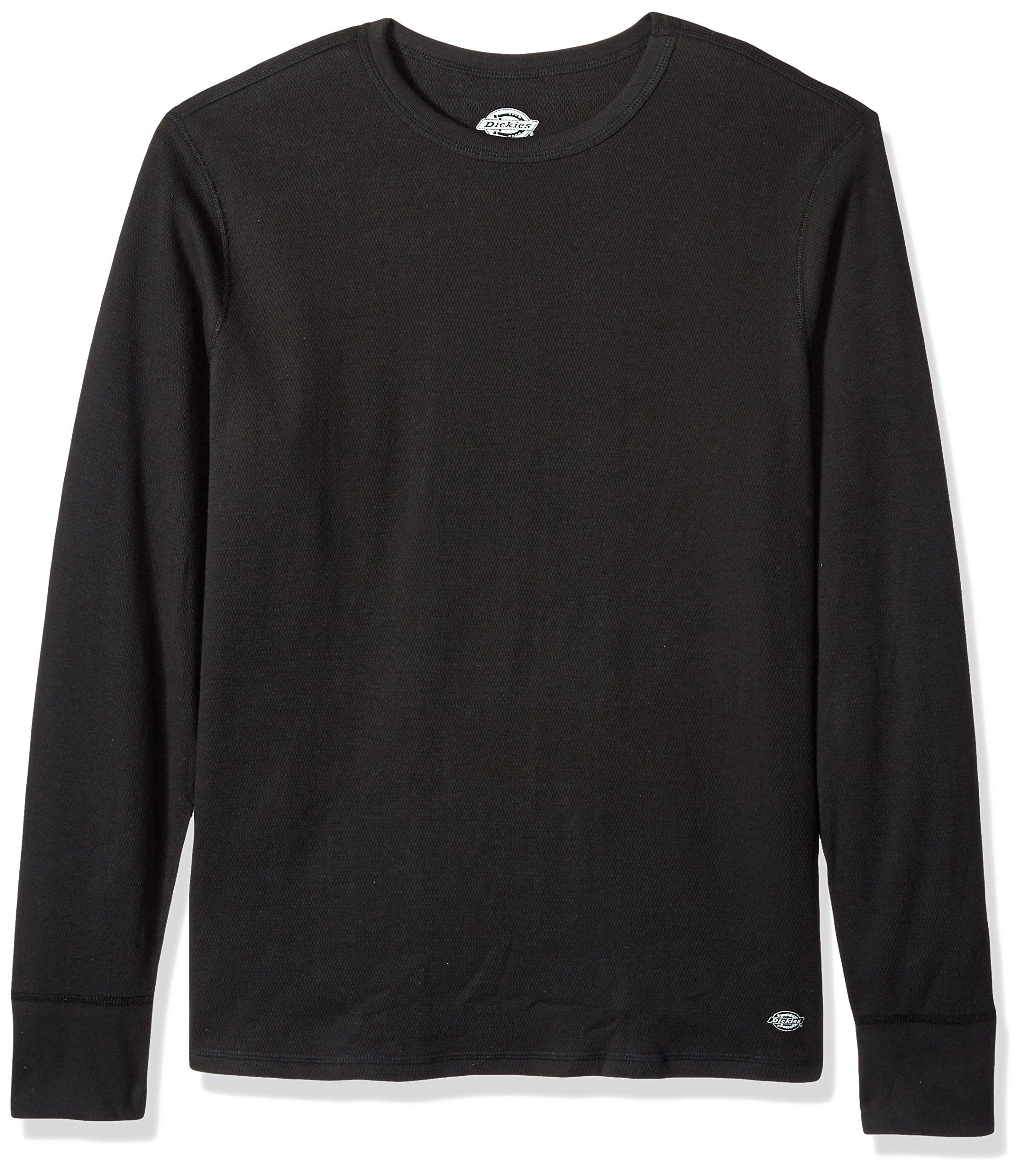 Dickies Men's Heavyweight Cotton Thermal Top, Black, Large by Dickies