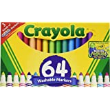 Crayola Washable Markers, 64 ct. Variety Pack, Art Tools, Perfect for Home or School, Great Gift