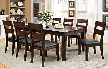 Furniture Of America Dallas 9 Piece Transitional Dining Set Dark Cherry