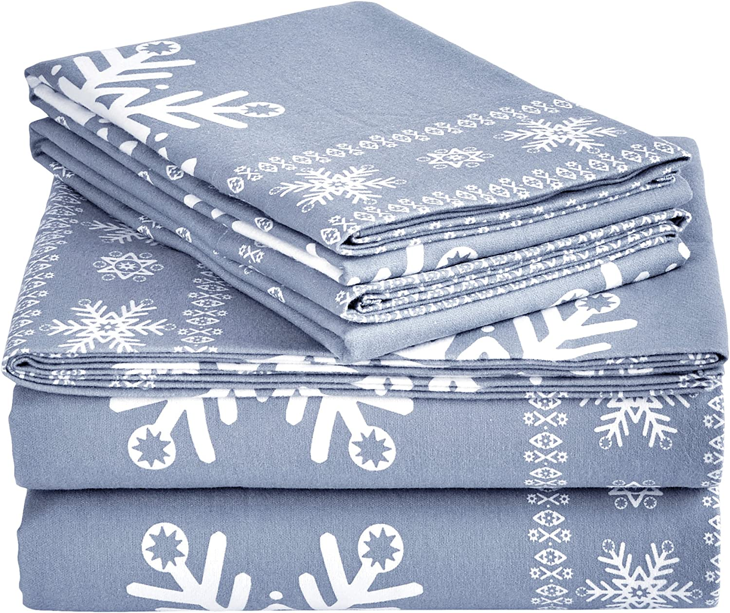 Snowflake Toss Kohls Department Store Cuddl Duds California King Flannel Sheet With Deep Pockets 4 Pieces Sheet Pillowcase Sets