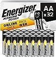 Energizer 7 Batterier Aa, Paket med 32, Silver