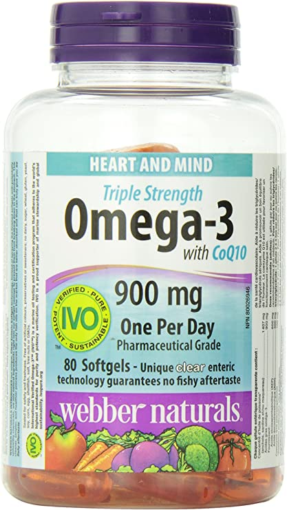 Amazon Com Webber Naturals Triple Strength Omega 3 With Coq10