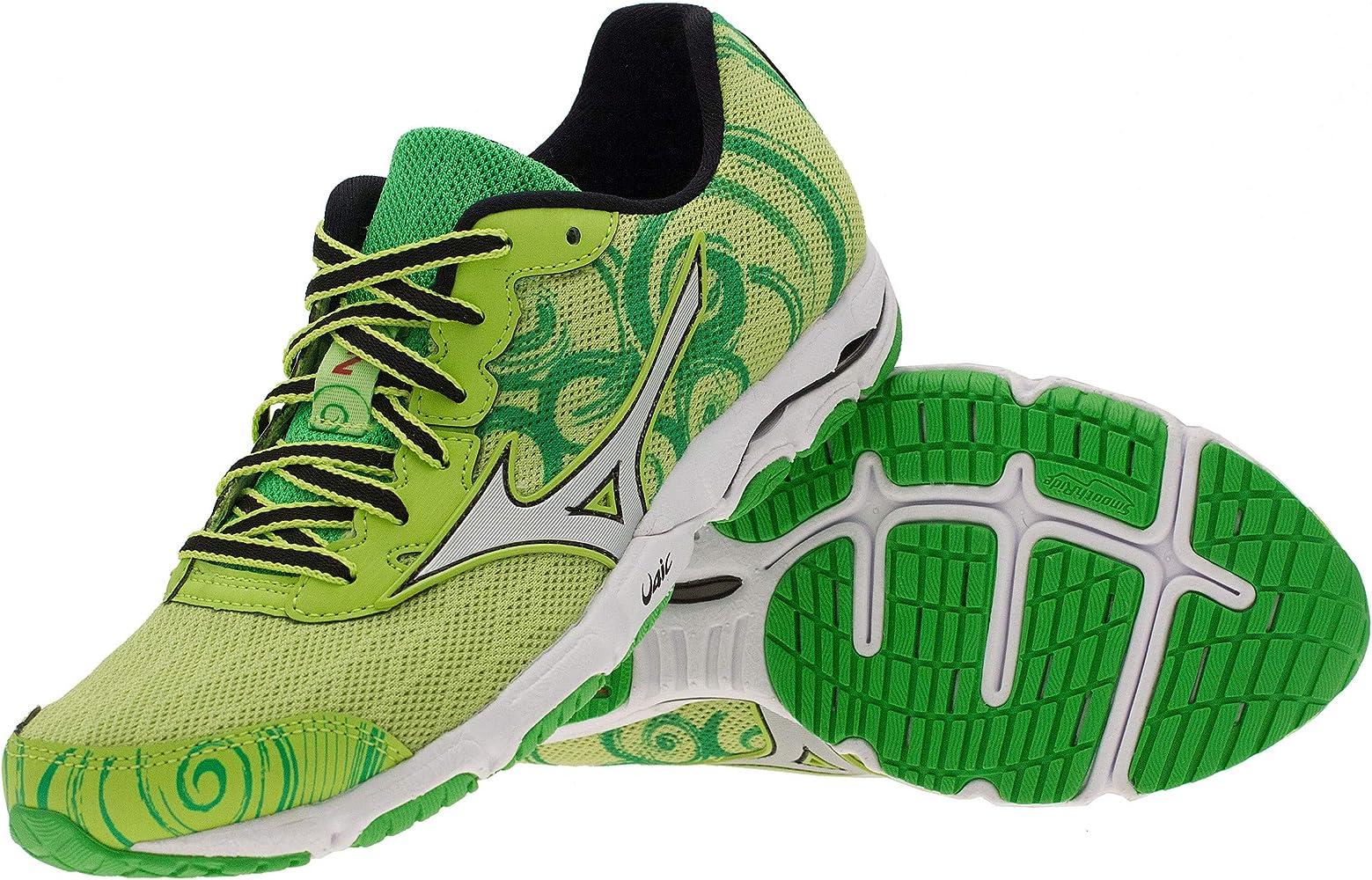 Mizuno - Zapatillas de Running de Material Sintético para Mujer Verde Verde, Color Gris, Talla 42 UE: Amazon.es: Zapatos y complementos