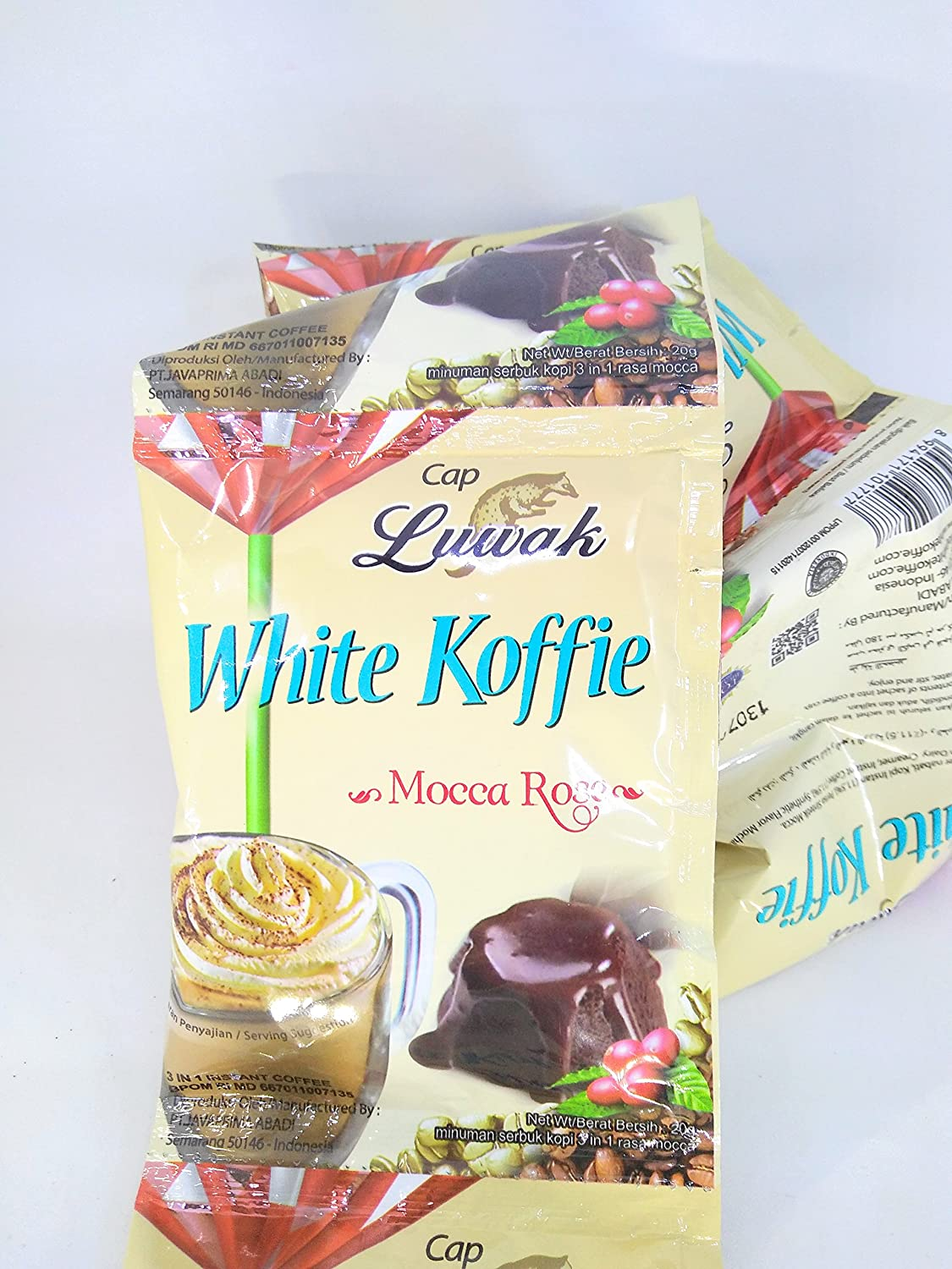 Amazon.com : Kopi Luwak White Koffie Original (3 in 1) Instant Coffee Mocca Rose Flavor, Single Pack 20 Gram (30 Sachets) : Grocery & Gourmet Food