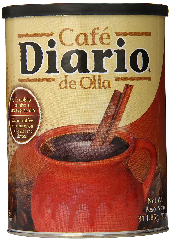 Cafe Diario Ground Coffee, De Olla, 11 Ounce (SYNCHKG057231)