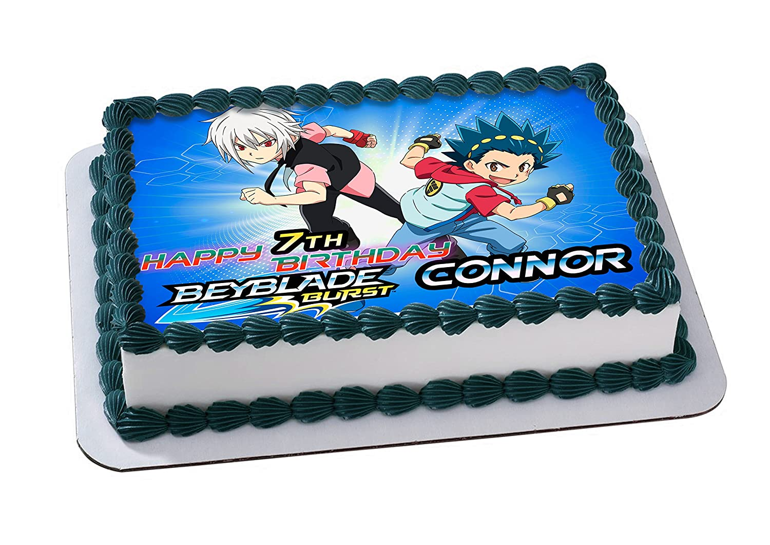 Beyblade Edible Cake Topper Personalized Birthday 1 4 Sheet Decoration Custom Party Sugar Frosting Transfer Fondant Image Best Quality