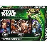 Noris Spiele 606031150 - Star Wars Jedi Puzzle Episode 2 & 3 Triptychon, 2000 Teile