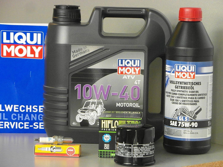 Mantenimiento – Set Suzuki LT de a LT de F 400 King Quad Eiger 4 x 2 con filtro de aceite Bujía: Amazon.es: Coche y moto