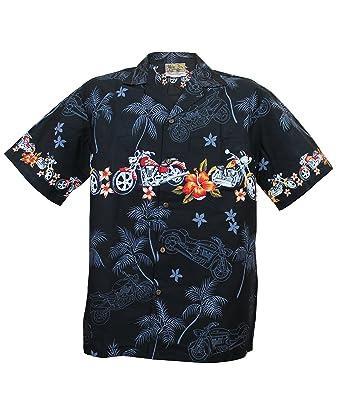 1cf0cb5d69e Motorcycle Hawaiian Aloha Shirt; Made in Hawaii at Amazon Men's ...