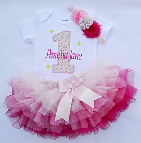 Amazon First Birthday Girl OutfitGirls Cake Smash OutfitBaby 1st Outfit1st Tututwinkle Twinkle Star Outfit