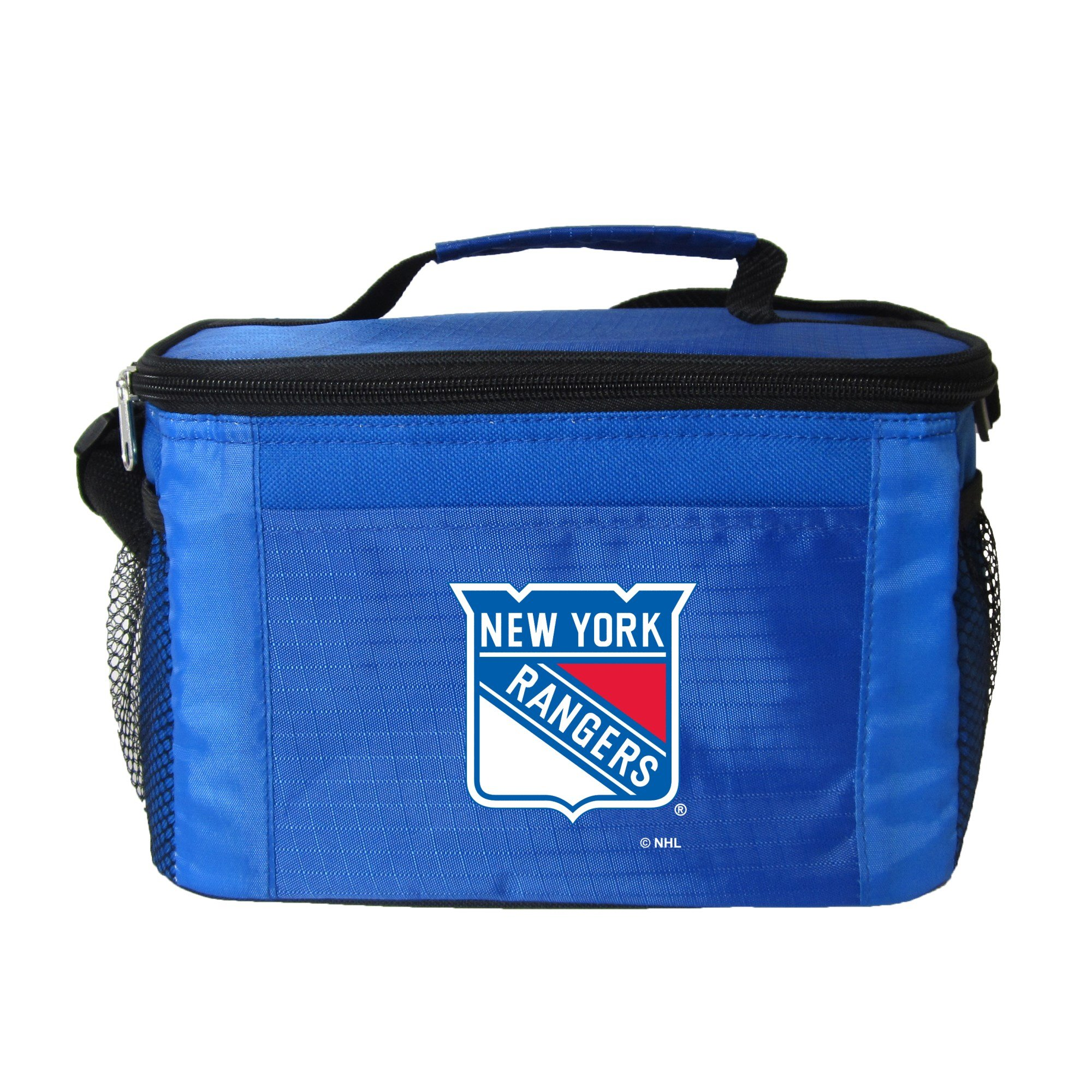 NHL New York Rangers Insulated Lunch Cooler Bag with Zipper Closure, Royal