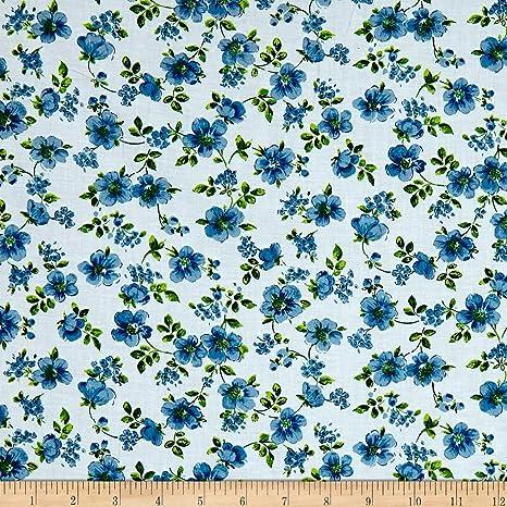 Santee Print Works - Tela de jardín botánico, Color Azul: Amazon.es: Juguetes y juegos