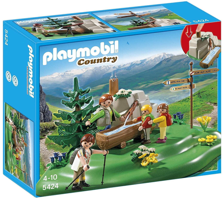 Playmobil Vida en la Montaña - Familia mochilera en la montaña (5424): Amazon.es: Juguetes y juegos