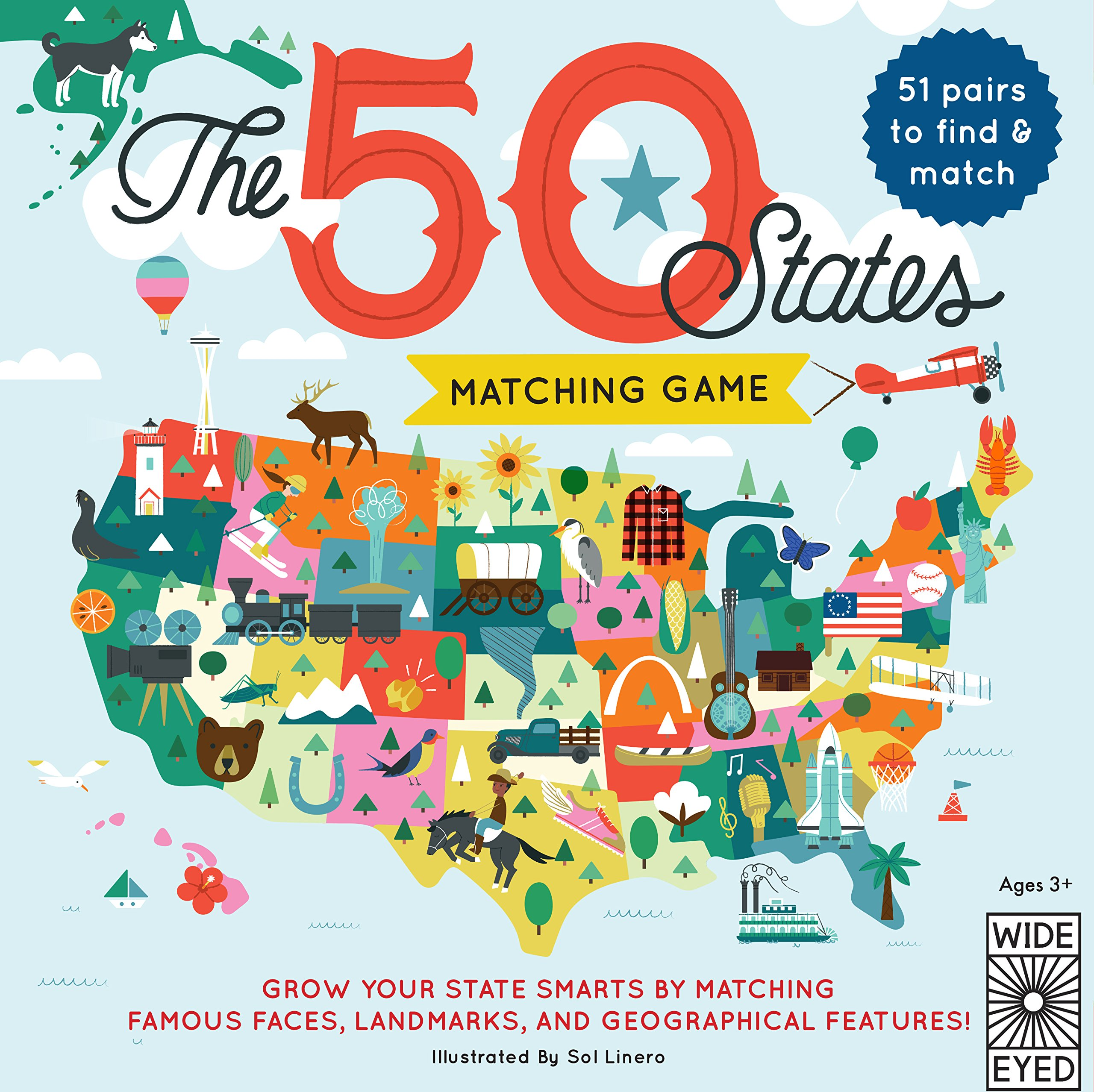 The 50 States Matching Game by Rock Point (Image #1)