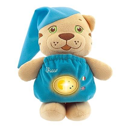 Chicco 2122000030 - Tigre de peluche parlante bilingüe (italiano-inglés)