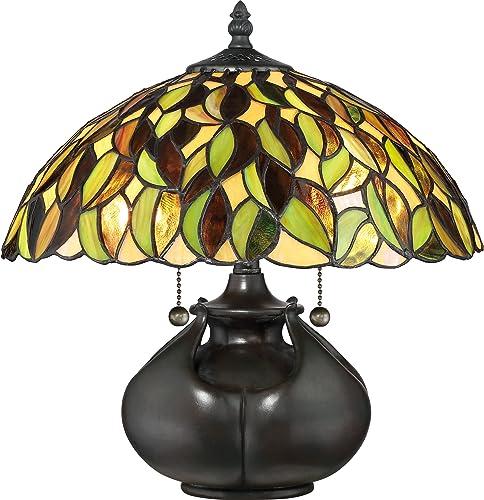 Quoizel TF3181T Greenwood Tiffany Table Lamp