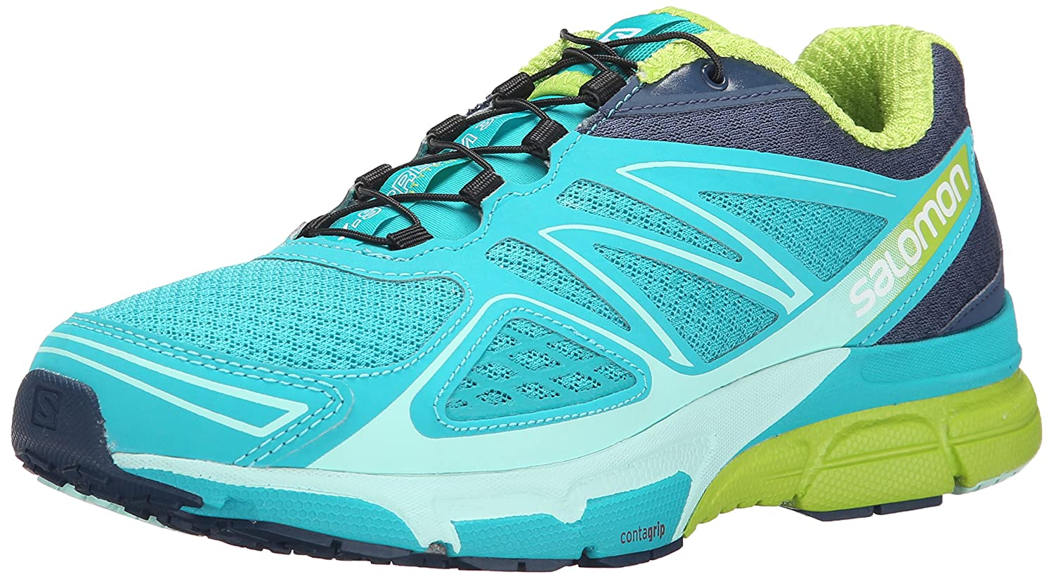 Salomon Women's X-Scream 3D W Trail Running Shoe B00PRQH70S 12 B(M) US|Teal Blue F/Slateblue/Granny Green