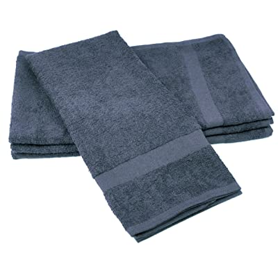 "Towels by Doctor Joe (DBS-16273-CHARI-2EA-2PK) Safe-2-Bleach Charcoal 16"" x 27"" Plush Cotton Salon Towel, (Pack of 2): Automotive"