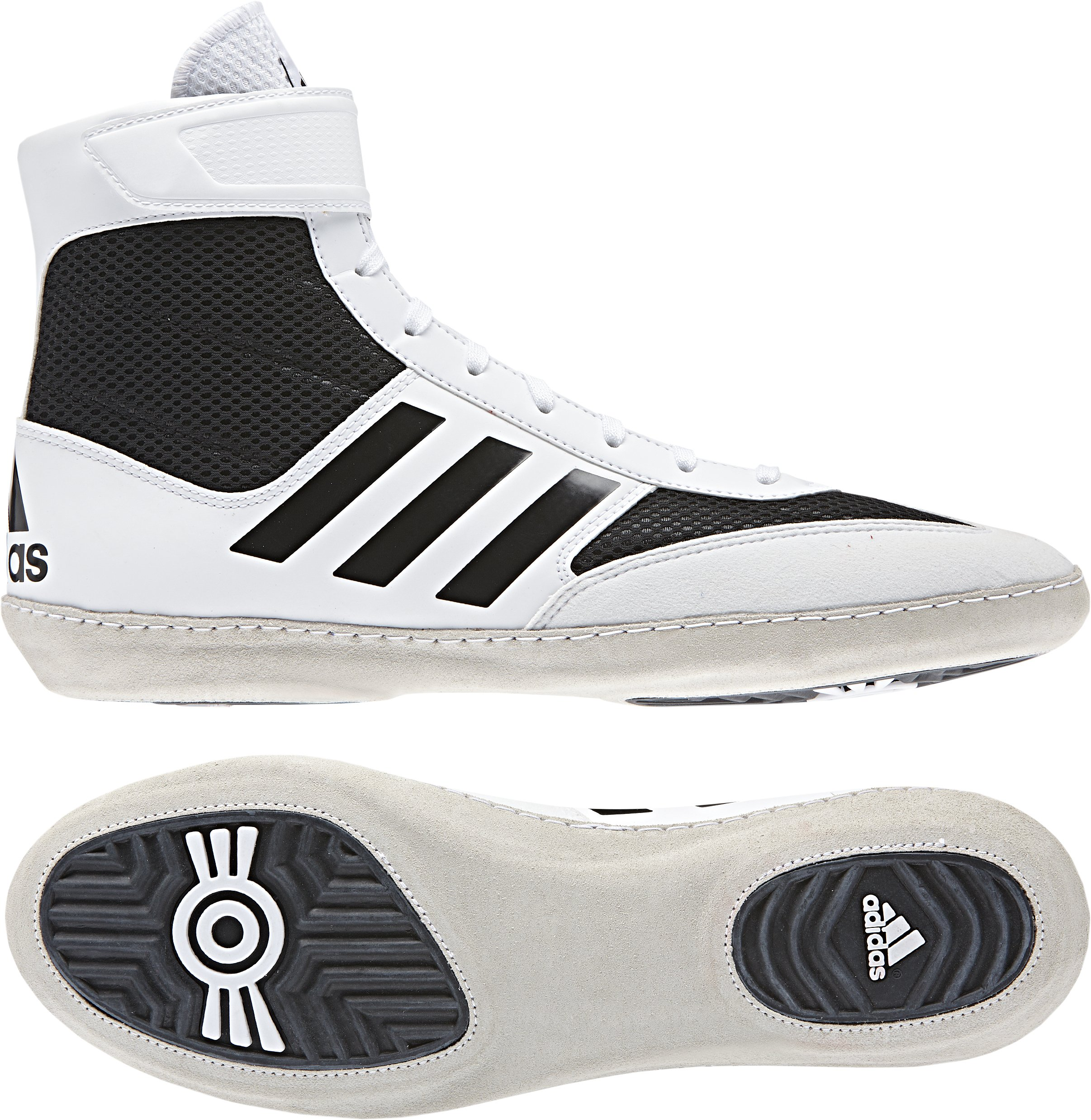 adidas Combat Speed 5 Men's Wrestling Shoes, White/Black, Size 6 by Adidas