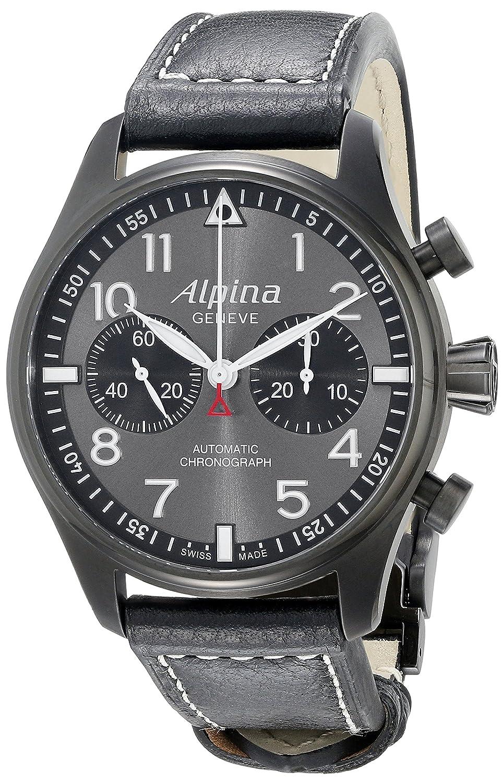 Alpina AL-860GB4FBS6 - Reloj de pulsera hombre, Cuero, color Negro: Amazon.es: Relojes