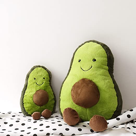 """Cute 12/"""" Stuffed Avocado Plush Toy Super Soft and Cuddly Pillow US SELLER"""