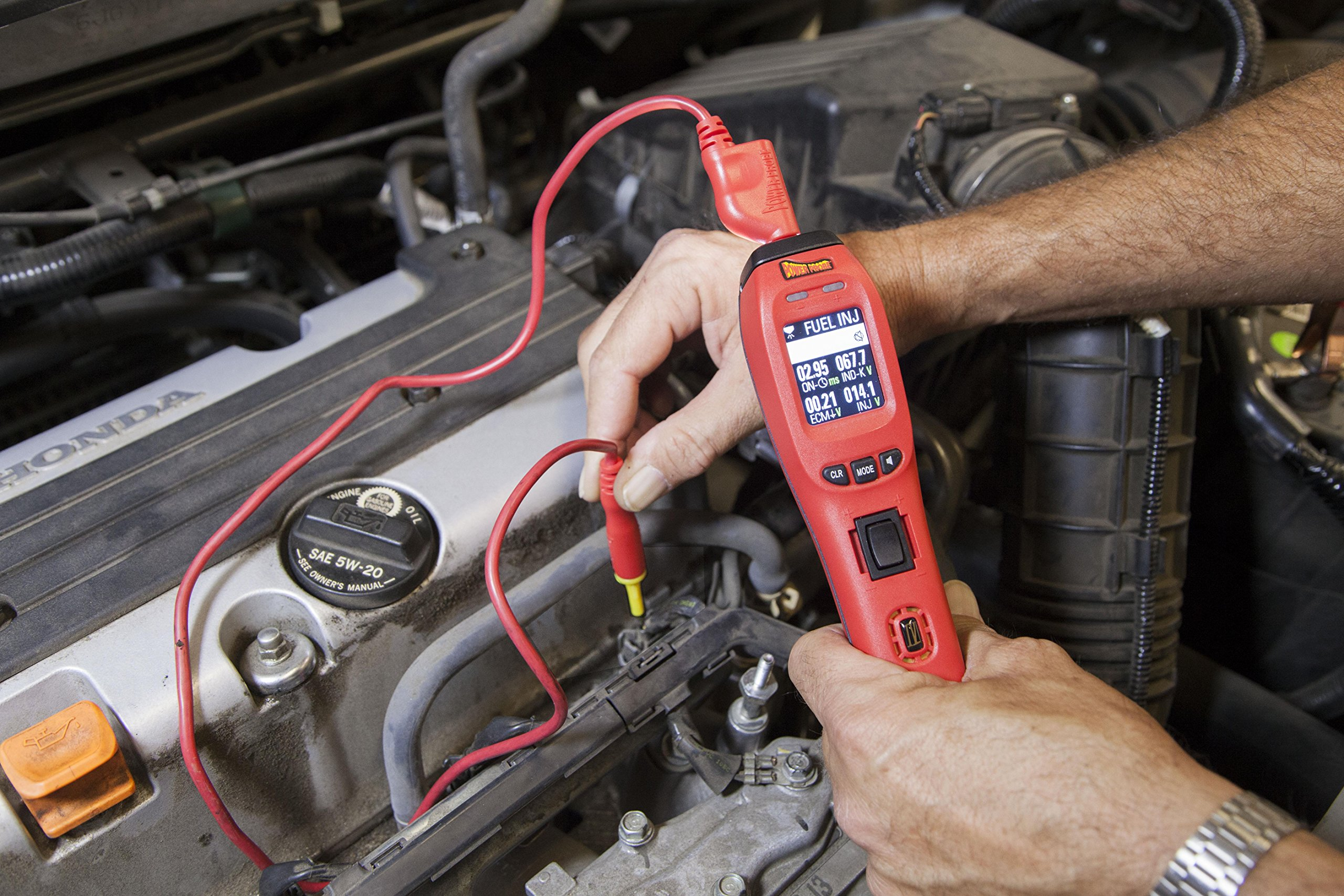 Power Probe IV w/Case & Acc - Red (PP401AS) [Car Diagnostic Test Tool Digital Volt Meter ACDC Current Resistance Circuit Tester Fuel Injector Tester] by Power Probe (Image #4)