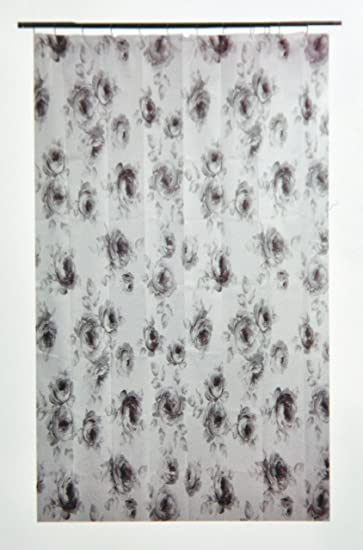 Amazon.com: Ikea Aggersund Floral Gray Roses Shower Curtain: Home ...