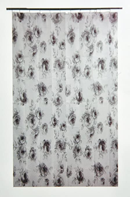 Amazon Ikea Aggersund Floral Gray Roses Shower Curtain Home