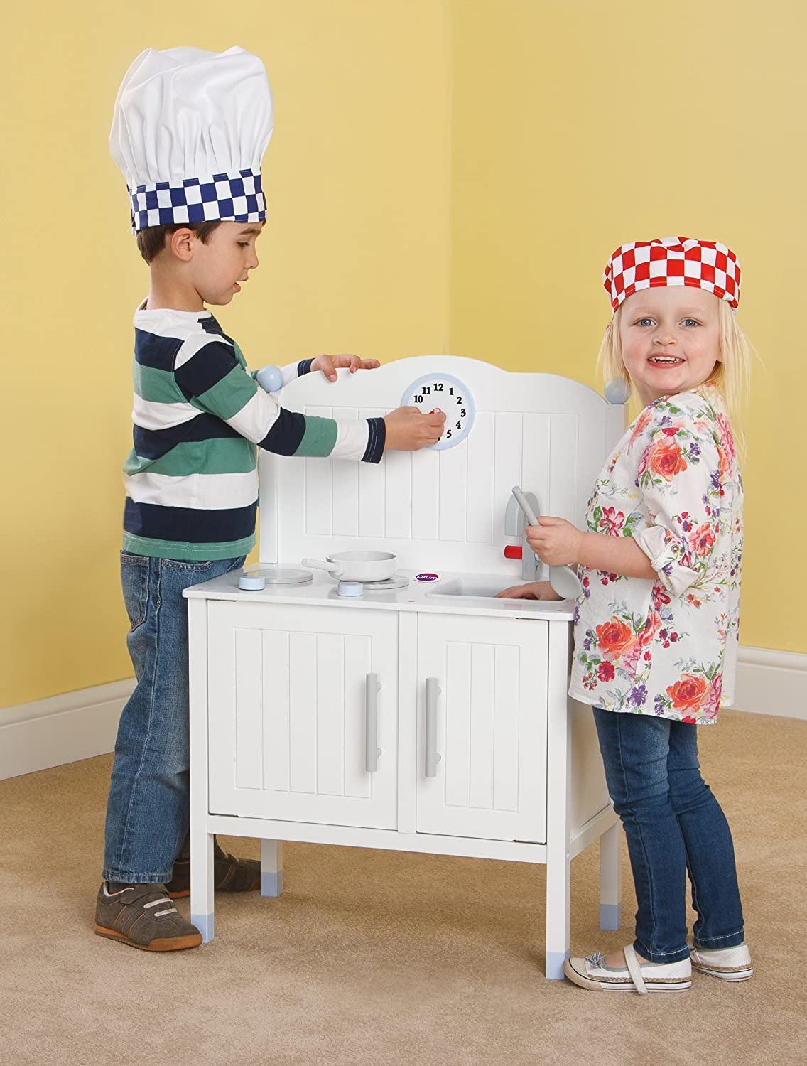 Plum® Oxford Wooden Role Play Kitchen with Accessories: Amazon.co.uk ...