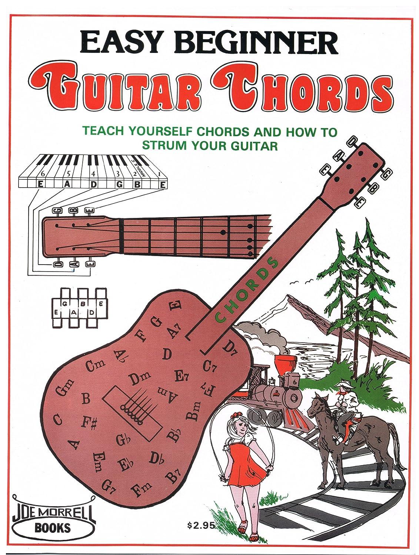 Amazon Easy Beginner Guitar Chords Instruction Book Teach