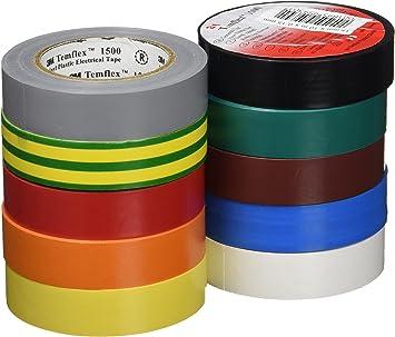 3m DE272951380 - Cinta temflex1500 15mmx10m pvc color rollo (pack de 10): Amazon.es: Bricolaje y herramientas