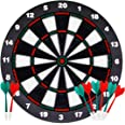 ATDAWN 16.4 Inch Safety Dart Board Game Set with 8 Soft Tip Darts, Indoor Outdoor Party Games, Sports Gifts for Kids and Adul