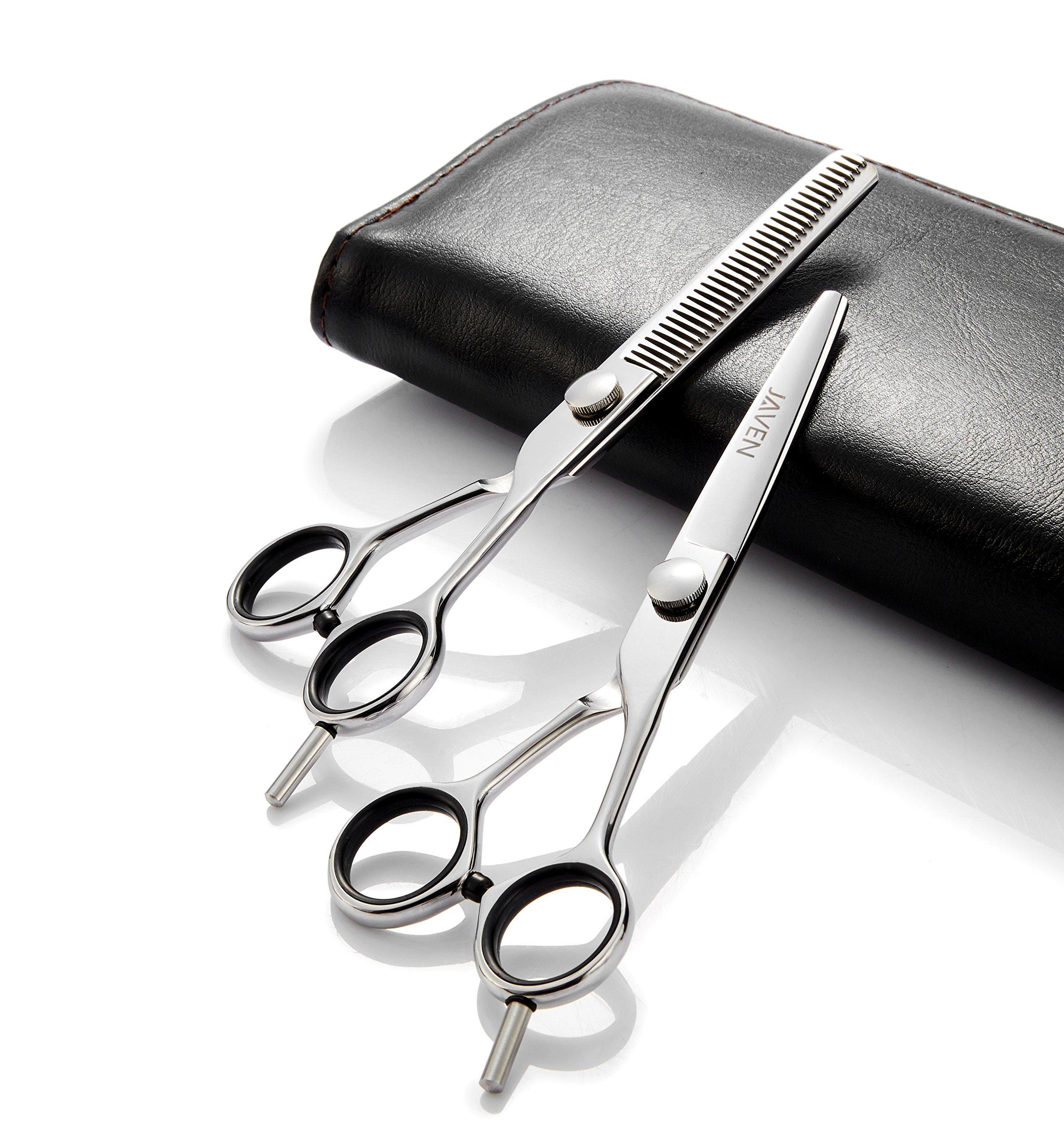2018 Professional Hair Cutting Scissors Set,Japanese 6.5 Inch Hair Scissors Teflon Shears Hairdressing Scissors Barber Thinning Scissors Hairdresser Razor Edge Haircut Right hand use by JAVENPROLIU (Image #2)
