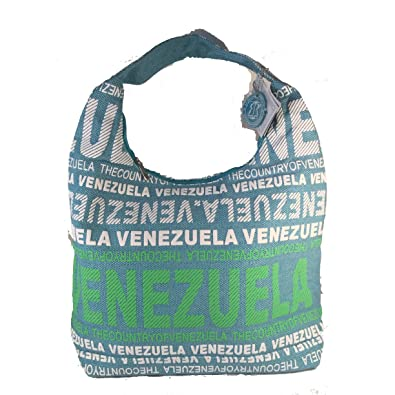 04817453a2d20 Amazon.com  Robin Ruth Venezuela Cotton Fabric Hobo Shoulder Bag Black and  Blue  Shoes