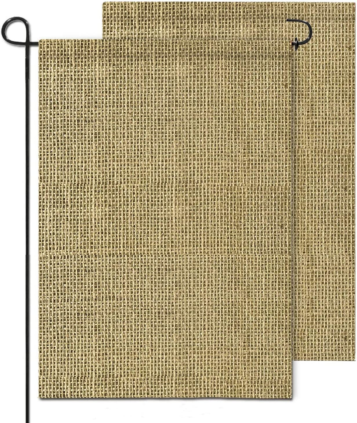 hblife Personalized Blank Burlap Garden Flag Happy Camper Banner Lawn Yard Outdoor Seasonal Holiday DIY Flag for New Home Gift Wedding Gift Housewarming Gift Home Decor,One-Sided (set of 2)