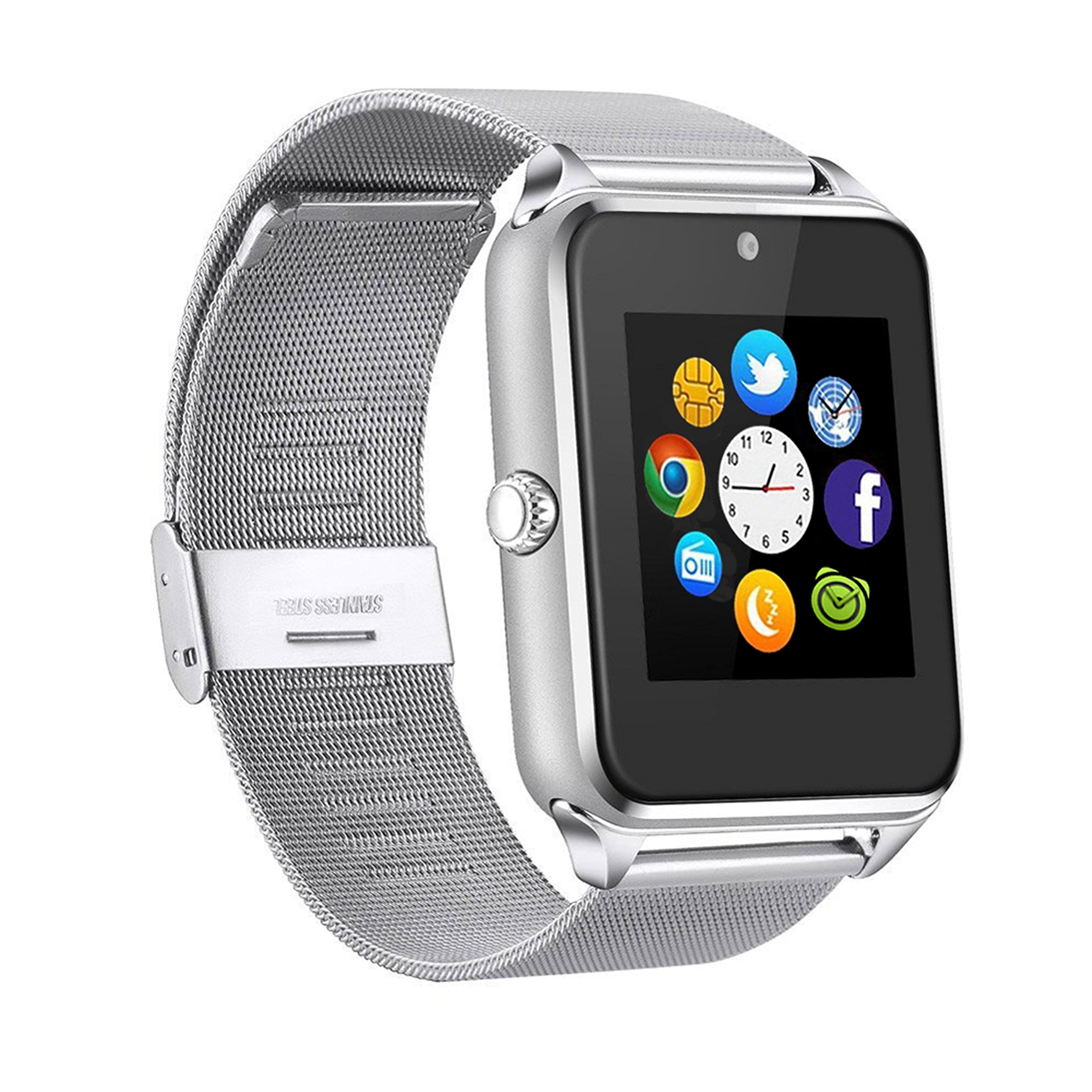 MSRM Replaceable Band Bluetooth Smart Watch Call Sync and Handfree Support Android 4.2 or Above and Iphone5s/6/6s/7/7s (Partial Functions for iPhone)
