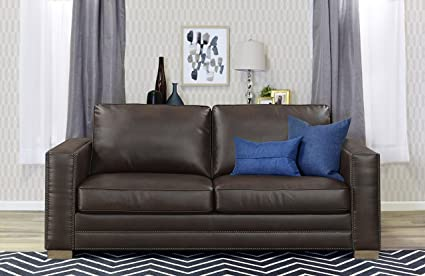 CorLiving 3pc Plush Reclining Chocolate Brown Bonded Leather ...