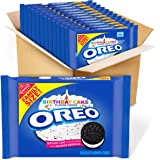 OREO Birthday Cake Chocolate Sandwich Cookies, 12 - 17 oz Family Size packages